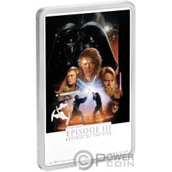 STAR WARS Revenge of the Sith 1 Oz Moneda Plata 2$ Niue 2018