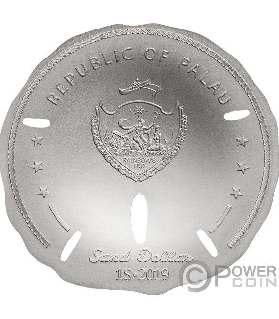 SAND DOLLAR 1 Oz Silver Coin 1$ Palau 2019