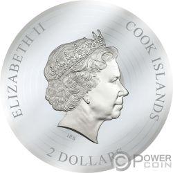 HIGHWAY TO HELL ACDC 1/2 Oz Moneda Billete Plata 2$ Cook Islands 2018