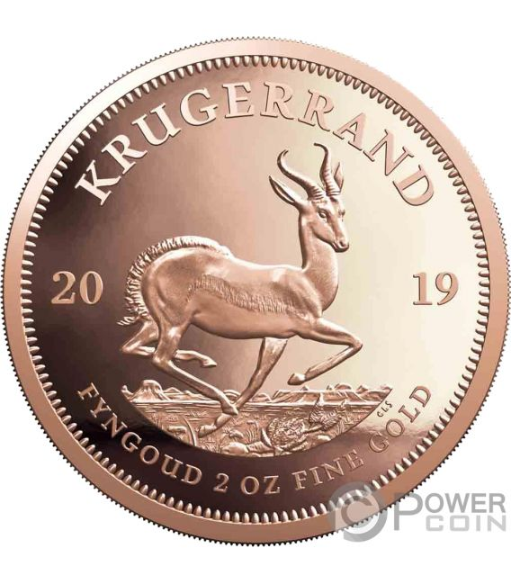KRUGERRAND 2 Oz Gold Coin 2 Rand South Africa 2019