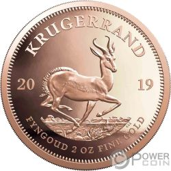 KRUGERRAND 2 Oz Moneda Oro 2 Rand South Africa 2019