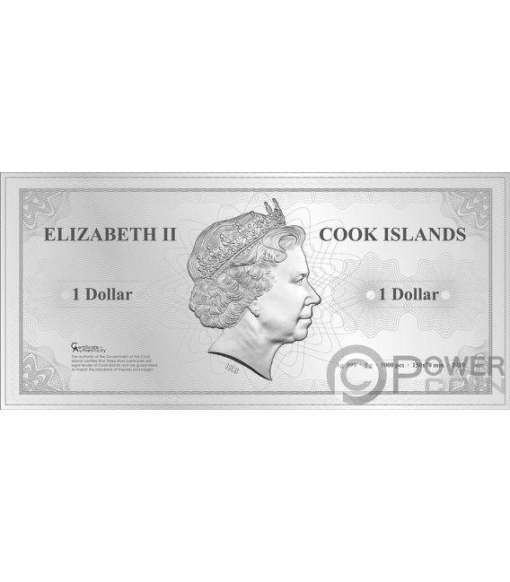 BANGKOK Skyline Dollars Foil Silver Note 1$ Cook Islands 2019