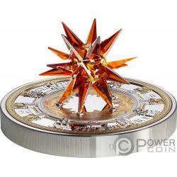 ST ISAACS CATHEDRAL Moravian Star Crystal Giant 1 Kg Kilo Серебро Монета 100$ Острова Кука 2018
