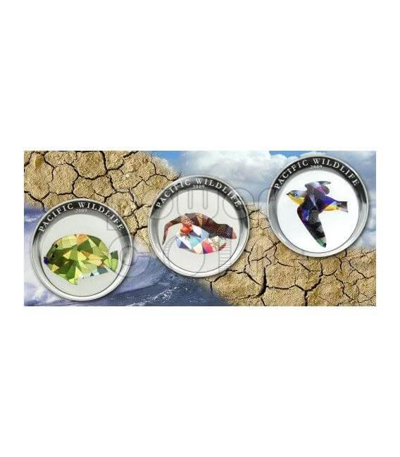 GECKO TOKAI Pacific Wildlife Coin Prism 5$ Palau 2009