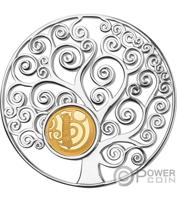 TREE OF LIFE Gustav Klimt Pendant Gold Coin 10$ Barbados 2018