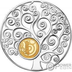 TREE OF LIFE Gustav Klimt Pendant Gold Coin 10$ Barbados 2018