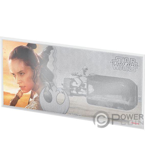 REY Star Wars Force Awakens Foil Silver Note 1$ Niue 2019