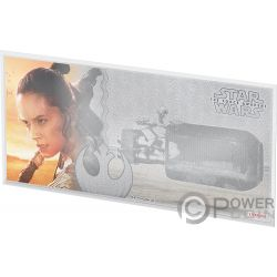 REY Star Wars Force Awakens Foil Серебро Note 1$ Ниуэ 2019