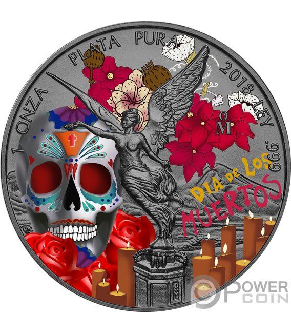 Dia De Los Muertos Day Of The Dead Libertad 1 Oz Silver
