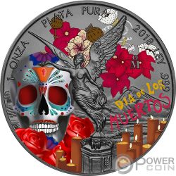 DIA DE LOS MUERTOS Libertad 1 Oz Moneda Plata Mexico 2018