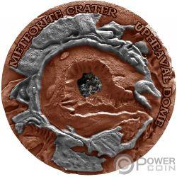 UPHEAVAL Meteorite Crater 1 Oz Серебро Монета 1$ Ниуэ 2019