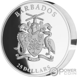 FLAMINGO 1 Kg Kilo Серебро Монета 25$ Барбадос 2018