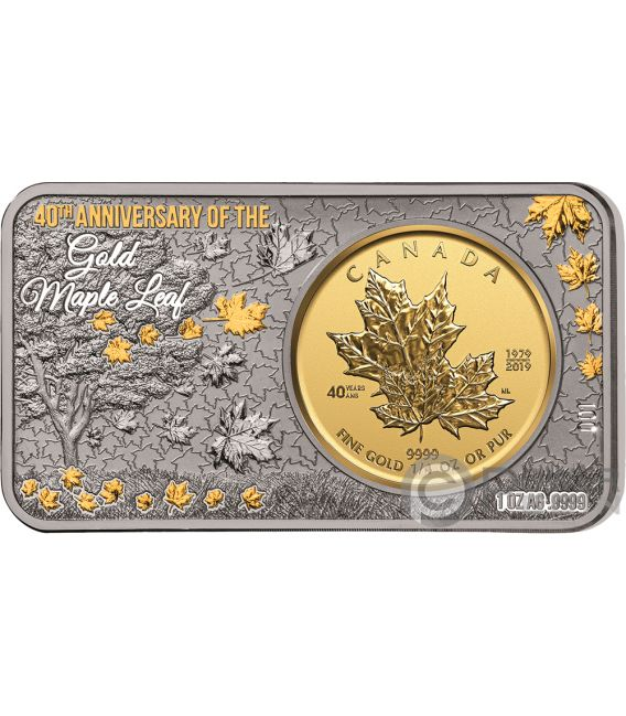 Maple Leaf 40th Anniversary 1 Oz Silver 1 4 Oz Gold Coin