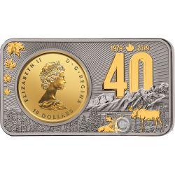MAPLE LEAF Ahornblatt 40 Jahrestag 1 Oz Silber 1/4 Oz Gold Münze Canada 2019