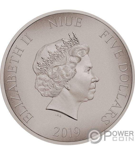 RED DRAGON Dragons 2 Oz Silver Coin 5$ Niue 2019
