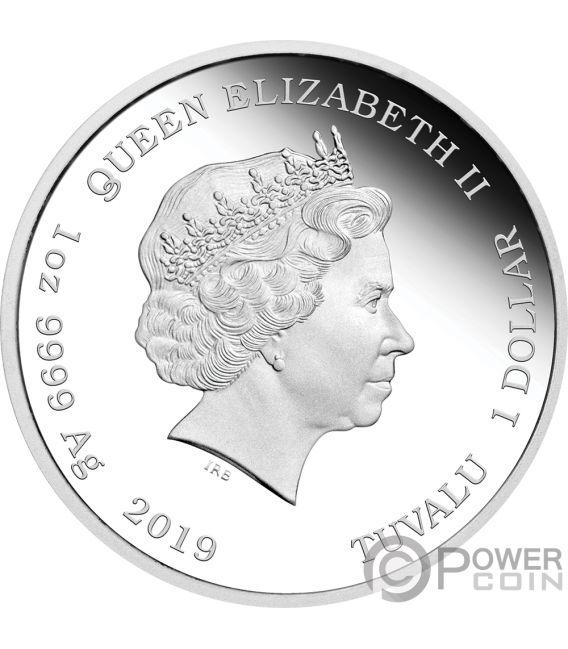 PORKY PIG Lunar Looney Tunes 1 Oz Silver Coin 1$ Tuvalu 2019