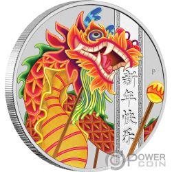 CHINESE NEW YEAR Neujahr 1 Oz Silber Münze 1$ Tuvalu 2019