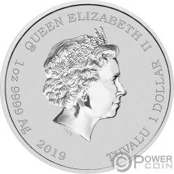 CHINESE NEW YEAR Nuevo Chino 1 Oz Moneda Plata 1$ Tuvalu 2019