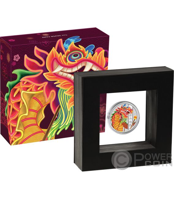 CHINESE NEW YEAR 1 Oz Silver Coin 1$ Tuvalu 2019