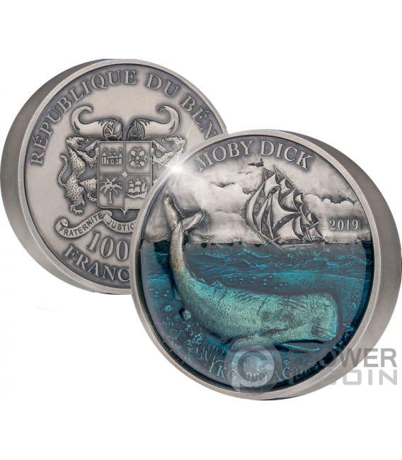 MOBYDICK Deep Sea 1 Kg Kilo Moneta Argento 10000 Franchi Benin 2019