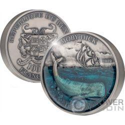 MOBYDICK Deep Sea 1 Kg Kilo Silber Münze 10000 Franken Benin 2019