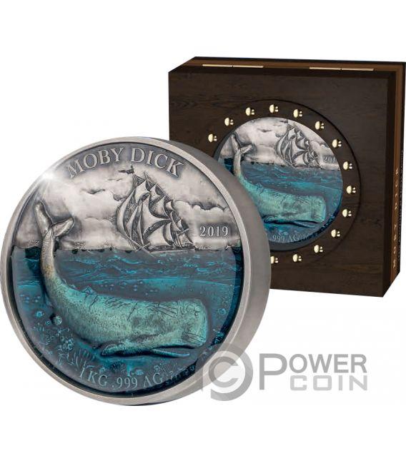 MOBYDICK Deep Sea 1 Kg Kilo Silver Coin 10000 Francs Benin 2019