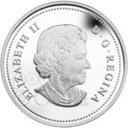 WILD ROSE Moneda Plata Swarovski Crystal 20$ Canada 2011