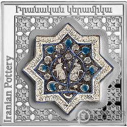 IRANIANSTAR POT Pottery of the World 1 Oz Silver Coin 1000 Dram Armenia 2018