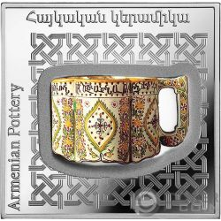 ARMENIAN POT Pottery of the World 1 Oz Silver Coin 1000 Dram Armenia 2018