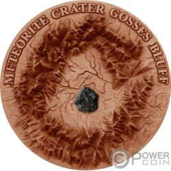 GOSSES BLUFF Meteorite Crater 1 Oz Moneda Plata 1$ Niue 2017