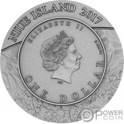 GOSSES BLUFF Meteorite Crater 1 Oz Silber Münze 1$ Niue 2017