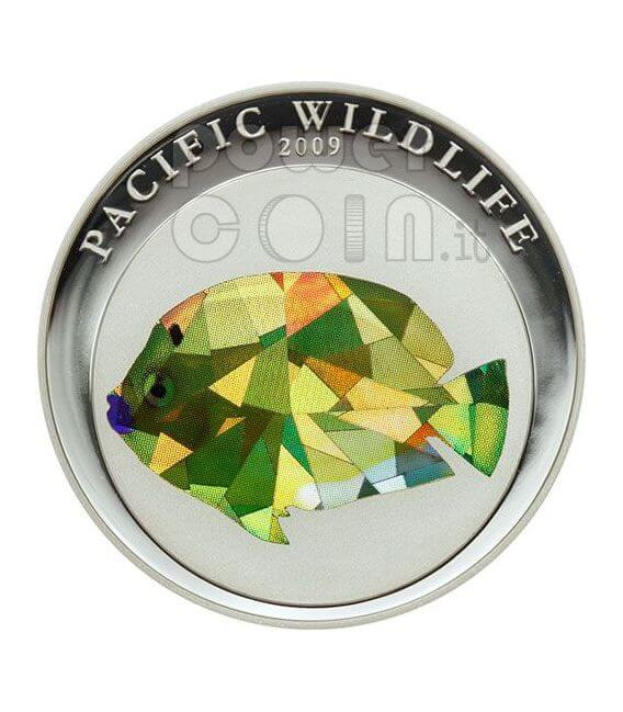 ANGELFISH Pacific Wildlife Coin Prism 5$ Palau 2009