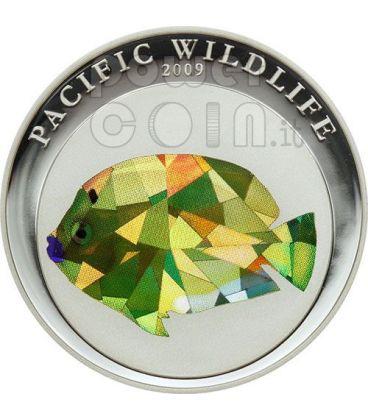 ANGELFISH Pacific Wildlife Coin Prism 5$ Palau 2009