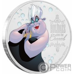 URSULA Little Mermaid Disney Villains 1 Oz Silver Coin 2$ Niue 2019
