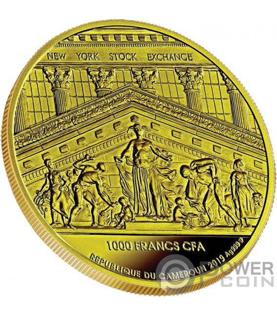 WINNER TAKES ALL NYSE 1 Oz Silber Münze 1000 Franken Cameroon 2019