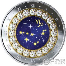 CAPRICORN Zodiac Swarovski Crystal Серебро Монета 5$ Канада 2019