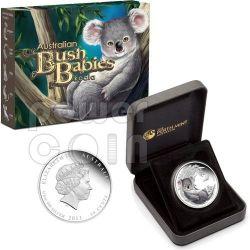 KOALA Bush Babies Plata Proof Moneda 50c Australia 2011