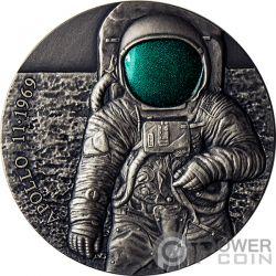 APOLLO 11 MOON Luna 50 Anniversario UFO 3 Oz Moneta Argento 3000 Franchi Cameroon 2019