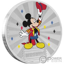MICKEY MOUSE Topolino Friends Carnival Disney 1 Oz Moneta Argento 2$ Niue 2019