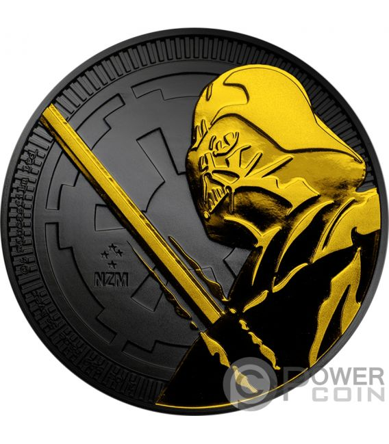 DARTH VADER Ruthenium Star Wars 1 Oz Silver Coin 2$ Niue 2018