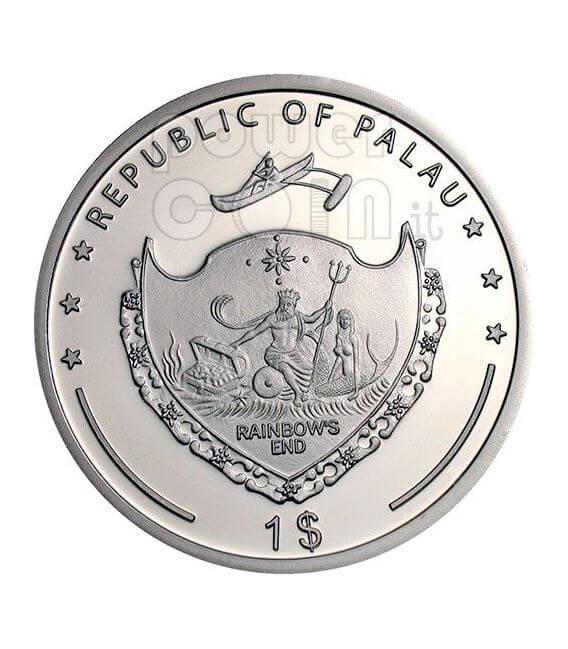 ANGELFISH Pacific Wildlife Münze Prism 5$ Palau 2009