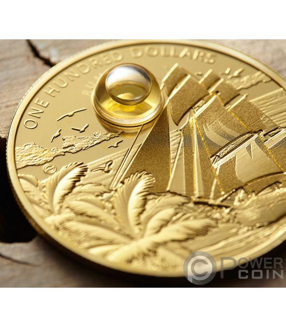 RUM Harewood 1780 Oldest Spirits 2 Oz Moneda Oro 100$ Barbados 2018