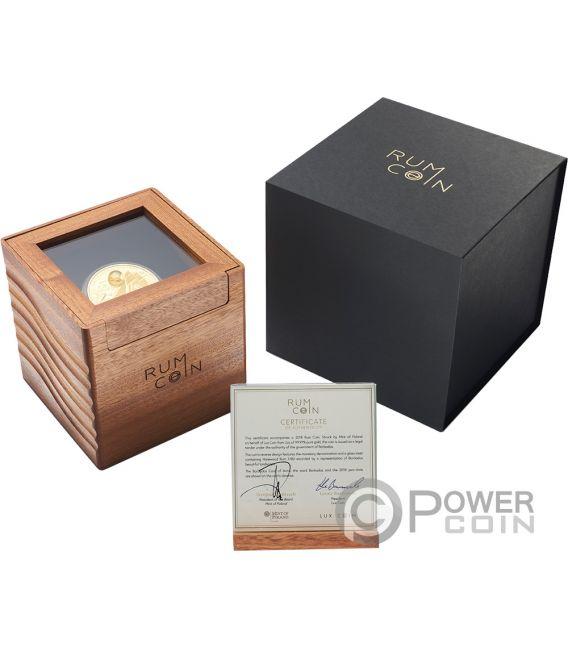 RUM Harewood 1780 Oldest Spirits 2 Oz Gold Münze 100$ Barbados 2018