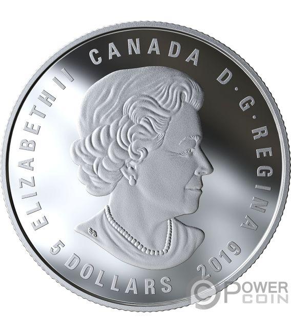 AQUARIUS Wassermann Zodiac Swarovski Crystal Silber Münze 5$ Canada 2019