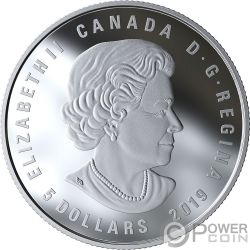 AQUARIUS Zodiac Swarovski Crystal Серебро Монета 5$ Канада 2019