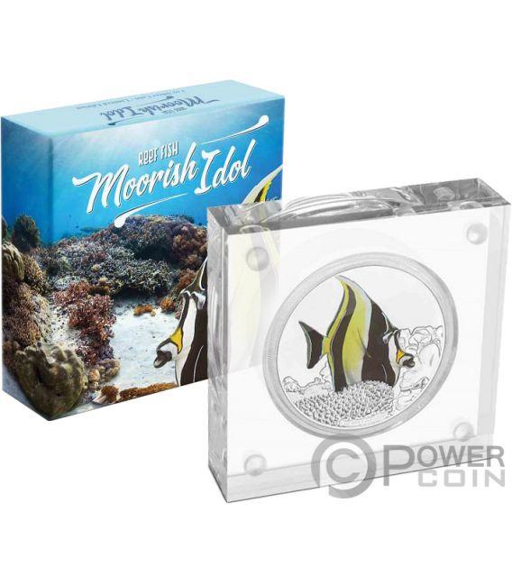 MOORISH IDOL Reef Fish 1 Oz Silver Coin 2$ Niue 2019