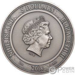 CARPE DIEM Genieße Tag Seelensammler Sanduhr 2 Oz Silber Münze 5$ Niue 2018