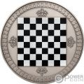 CHESS Chessboard Board Game 2 Oz Silver Coin 5$ Niue 2018