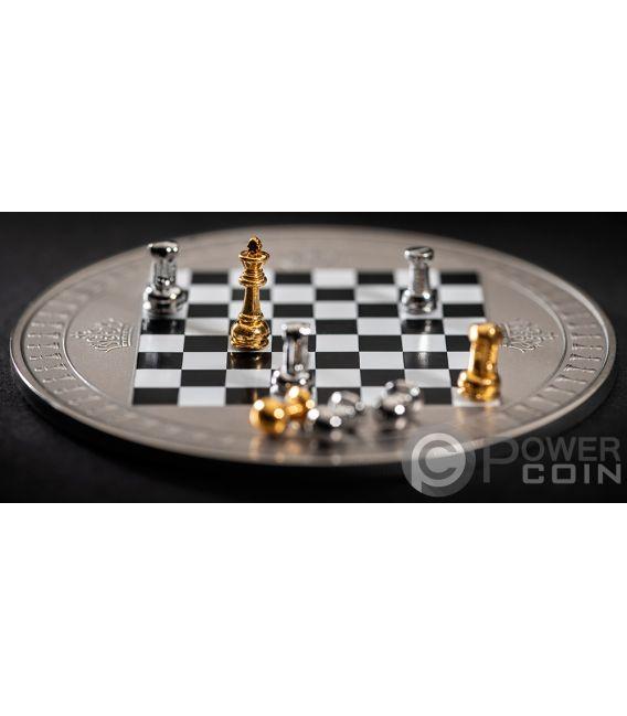Chess Chessboard Board Game 2 Oz Silver Coin 5 Niue 2018