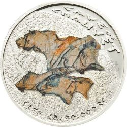 GROTTA DI CHAUVET Arte Preistorica Dipinti Paleolitico Moneta Argento 1$ Niue 2011
